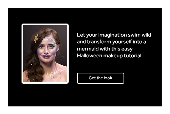 Let your imagination swim wild and transform yourself into a mermaid with this easy Halloween makeup tutorial.