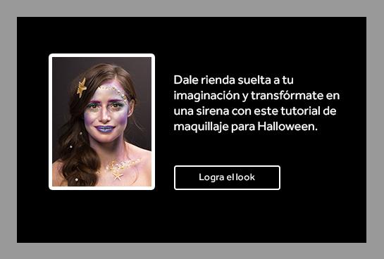 Dale rienda suelta a tu imaginación y transfórmate en una sirena con este tutorial de maquillaje para Halloween.